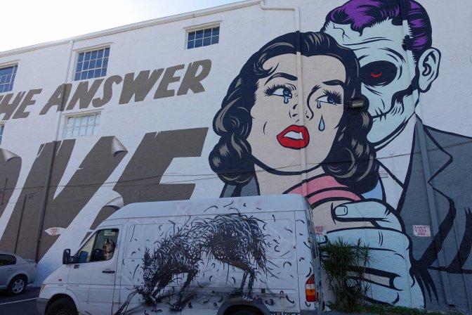 Graffiti, murals and street art in Wynwood Miami Florida
