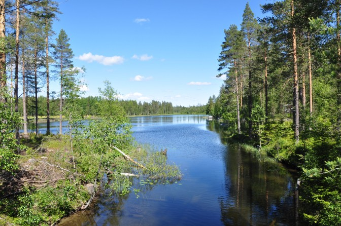 View of lake Tavelsjön