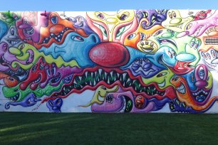 Street art by Kenny Scharf Wynwood USA