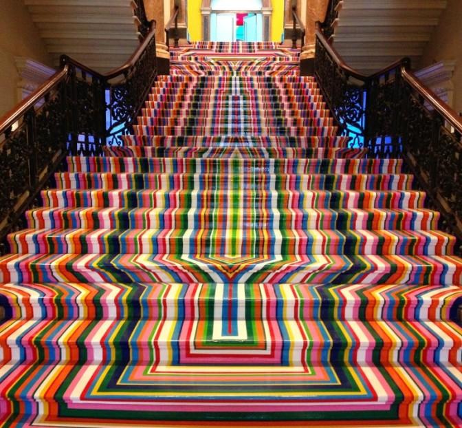 Jim Lambie staircase
