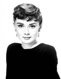 Classic portrait of Audrey Hepburn