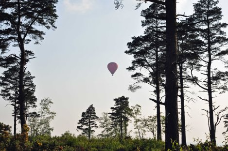 Balloning over Blackdown Surrey