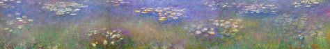 Monet's Water Lilies Agapanthus triptych