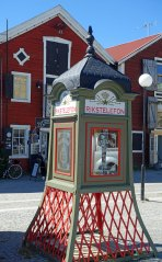 Old fashioned phone box in Hudiksvall Sweden